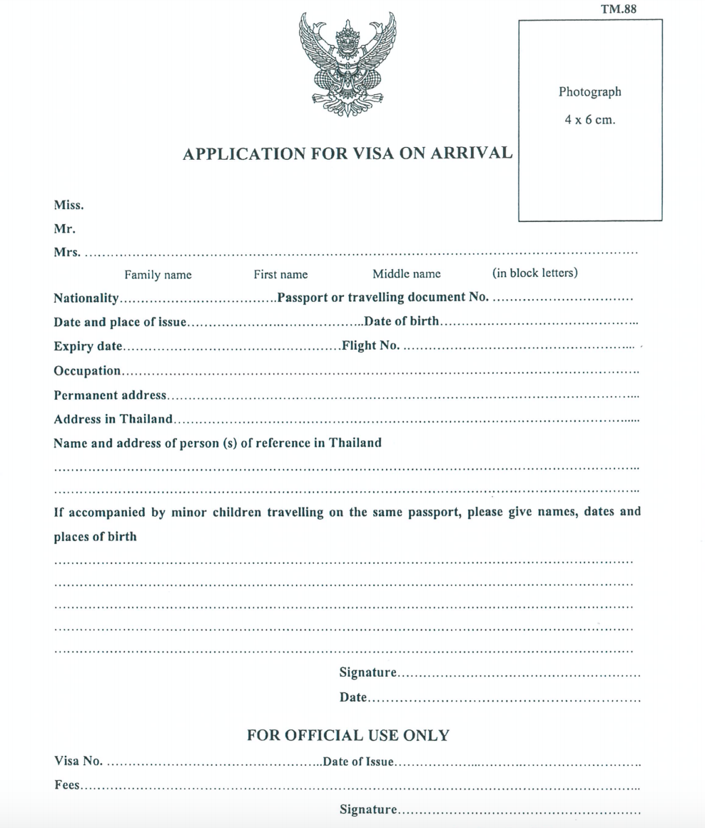 How To Get A Thailand Visa On Arrival As An Indian The Visa Project