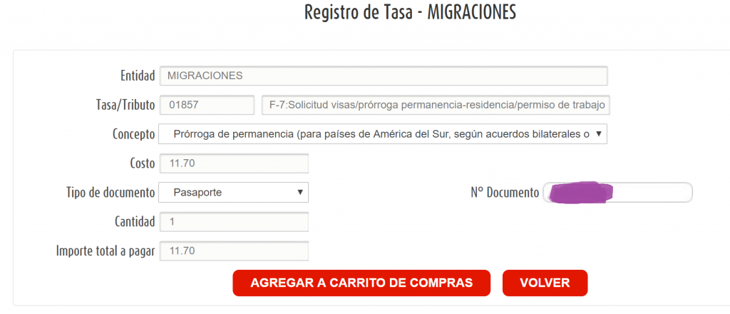 Peru visa extension payment on pagalo.pe