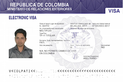 How to Get a Colombia Tourist Visa with Multiple Entries : My experience