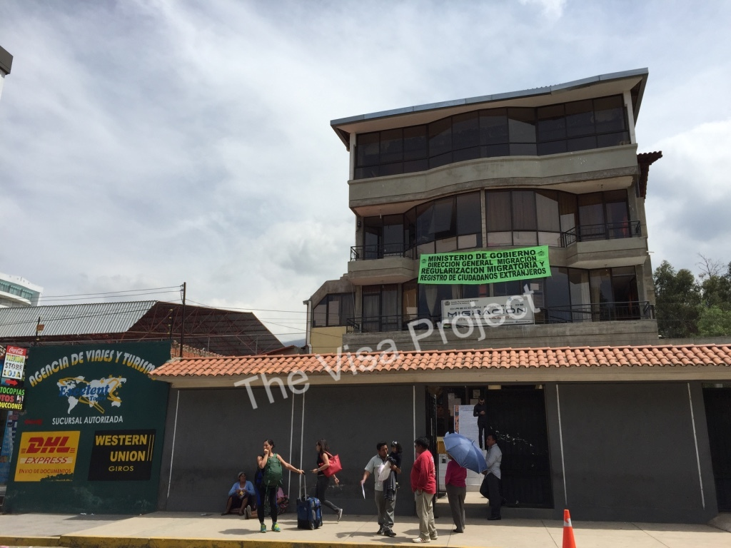 Extend Bolivian tourist visa for US citizens in Cochabamba