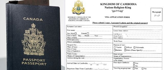 How to get Cambodia visa from Canada in Cambodian embassy