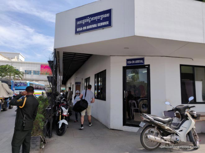 Cambodia Visa on arrival counter at Poipet