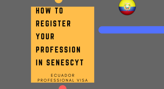 Ecuador professional visa profession register