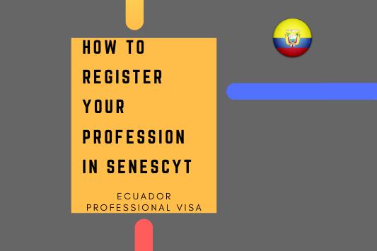 Ecuador professional visa profession register