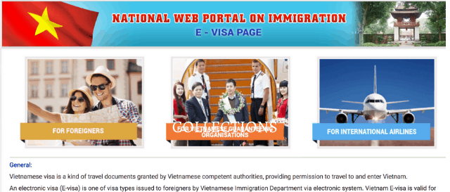 Official website for Vietnam online visa