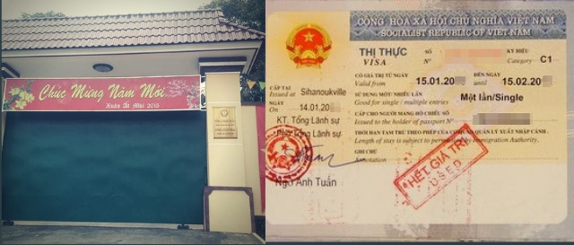 Vietnam tourist visa in Consulate of Vietnam in Sihanoukville, Cambodia