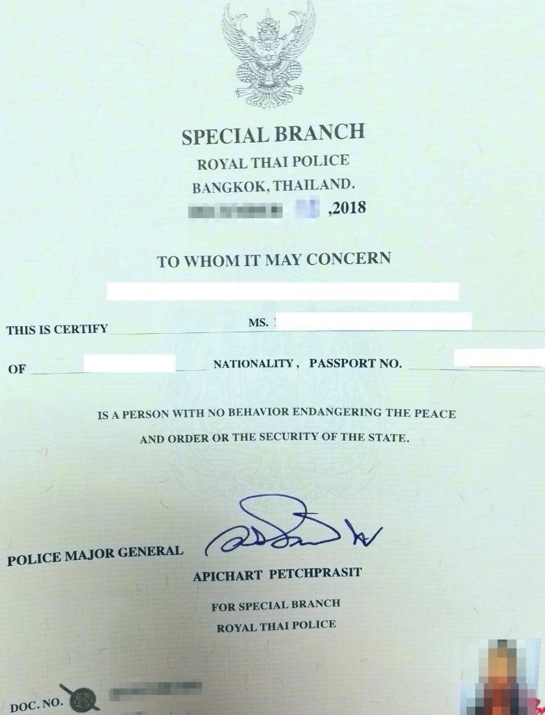 For Thailand non-immigrant visa, you can get Thailand PCC in Bangkok.