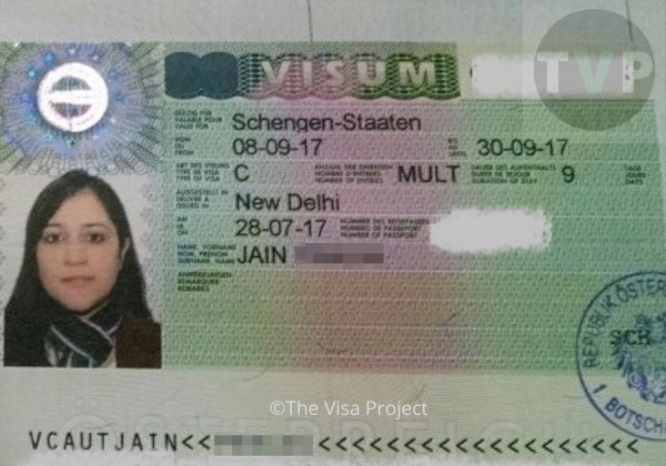 Schengen tourist visa sample